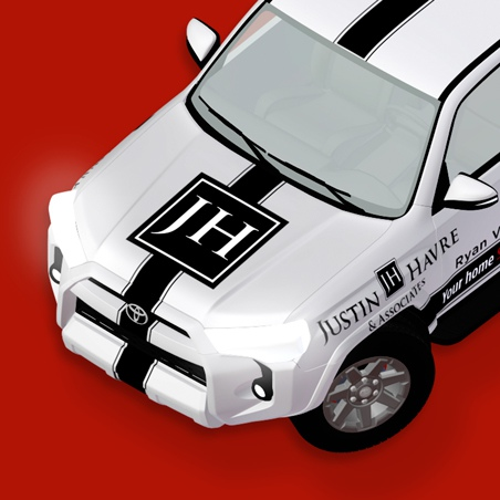 Justin Havre & Associates Toyota 4Runner Vehicle Wrap Page